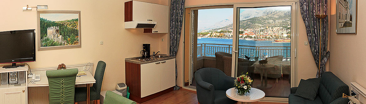 Apartment Studio mit Meerblick in Makarska Kroatien