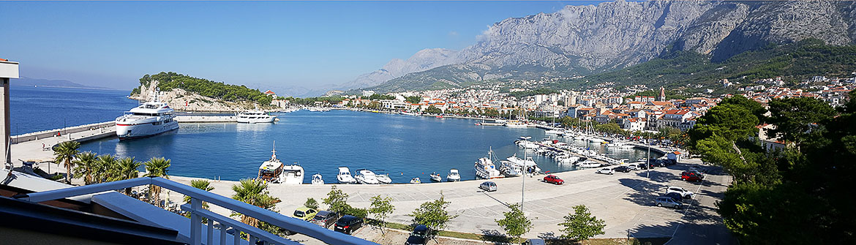 Apartments Makarska Promenade mit Meerblick in Kroatien